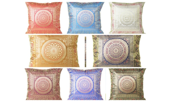 Up To 48% Off On Cushion Brocade Cover Mandala Groupon Goods Adorable Brocade Home Decor