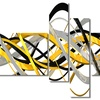 HelixExpression - Large Abstract Canvas Art Print - 63x32 - 4 Panels