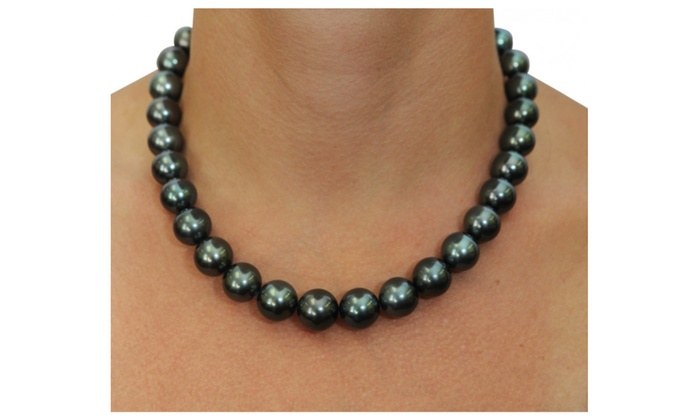 Up To 41 Off On Black Pearl Necklace And Earr