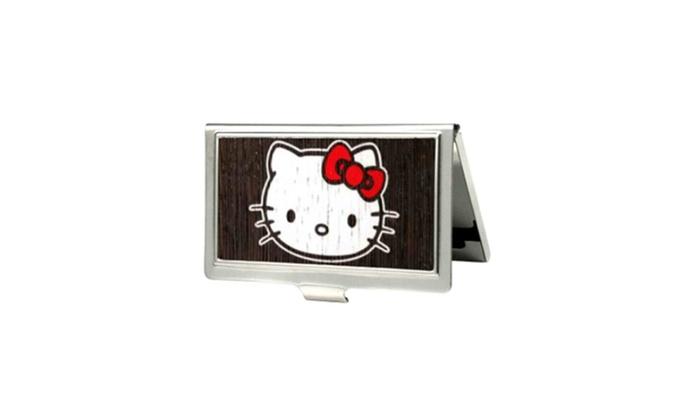 Hello kitty animated character wood logo small business card holder hello kitty animated character wood logo small business card holder reheart Choice Image