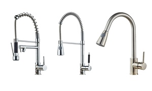 Home Stainless Chrome Kitchen Sink Faucet With Hot/Cold Mixer at Wmart, plus 6.0% Cash Back from Ebates.