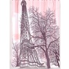 Carnation Home Fashions FSC13-TE Tour Eiffel Fabric Shower Curtain