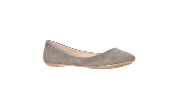 Riverberry 'Aria' Rounded Toe Ballet Flat Slip On, Grey Suede