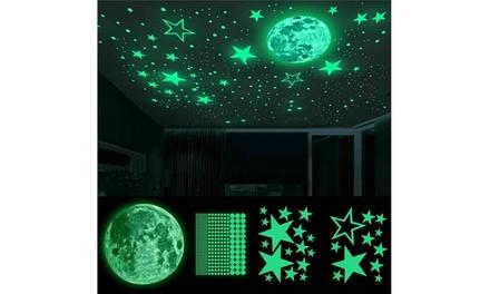435pcs Glow In The Dark Luminous Stars Moon Wall Stickers Decal Kid Room Decor