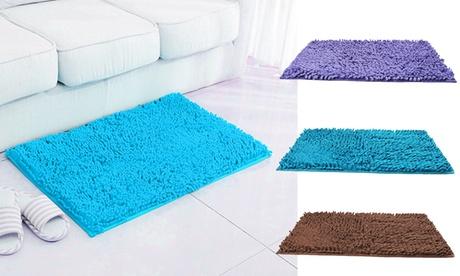 Soft Microfiber Shaggy Absorbent Bath Mat Non Slip Bathroom Shower Rugs Carpet
