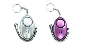 2-Pack Personal Security Alarm Keychain with LED Light
