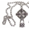 Silver Celtic Irish Vintage Cross and Heavy Braided Chain