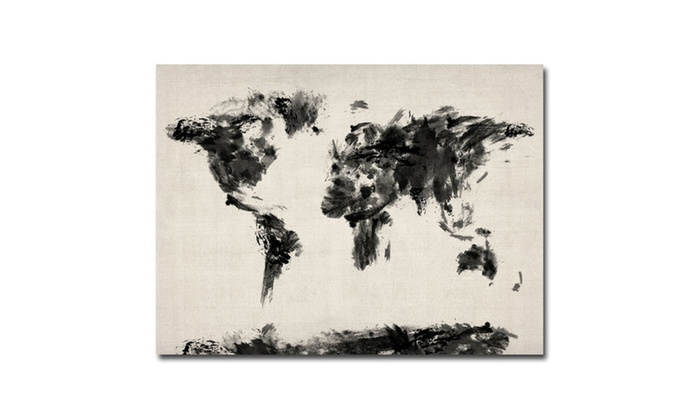 Up to 65 off on michael tompsett abstract ma groupon goods groupon goods michael tompsett abstract map of the world canvas art gumiabroncs Images