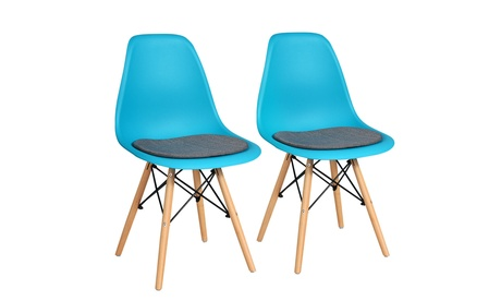 Costway 2PCS Dining Chair Mid Century Modern DSW Chair Furniture W/ Linen