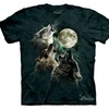 The Mountain Graphic Tee Three Wolf Moon Adult T-shirt