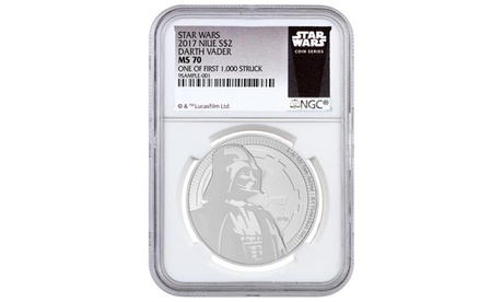 2017 1 oz Silver Star Wars Darth Vader 2 Dollar Coin NGC MS70 2366c041-3787-4f7a-9382-bc6376db8ed8