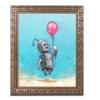 Craig Snodgrass 'Robot With Red Balloon' Ornate Framed Art