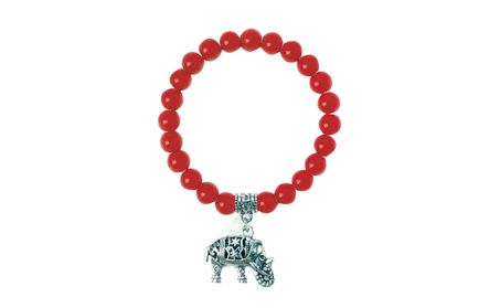 Breezy Couture Jewelry Accessories Red Bead Elephant Charm Bracelet efc5fff7-d8b3-4a62-af57-6ca6f75ed2c2