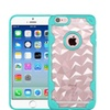 Insten Polygon Hard Hybrid Silicone Case For Iphone 6/6s Clear/teal