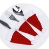 Christmas Holiday Festive Red Santa Cutlery Silverware Hat Sets