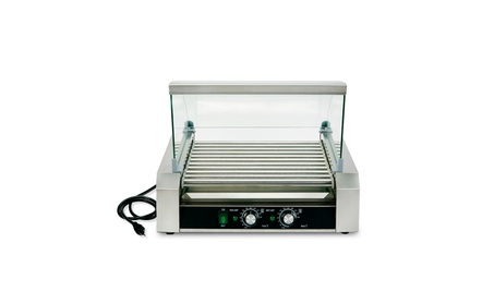 11 Roller 30 Hot Dog Grill Stainless Steel Cooker Machine f554d630-0642-4c31-b80c-584c9cbc4ff9