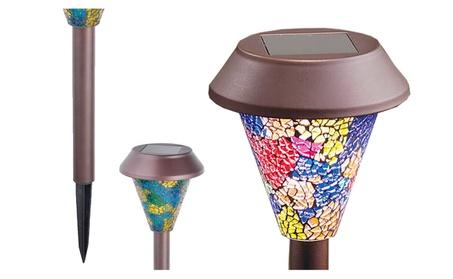 Luxurious Solar Powered Mosaic Design Pathway Lights For Home Decor 358e0485-1495-4544-b7f0-943862deb936