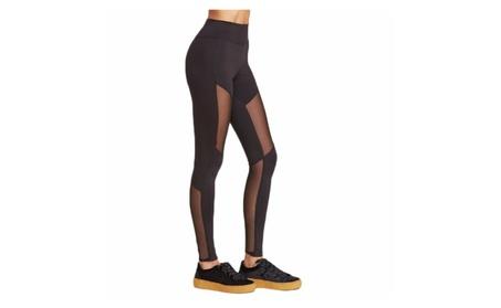 Black Mesh Patchwork Women's Leggings Yoga Pants Workout Activewear d89c0782-d9dd-4c0a-8e14-05604ad79c0b