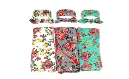 SHINA Blankets and Headband Set for Newborn Baby Girl and Boy 45cda7f8-5a31-4a48-930c-7e828ccd7e52