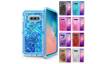Samsung Galaxy 10 Plus/S10E/S10 Defender Shock Sparkling Liquid Glitter Case