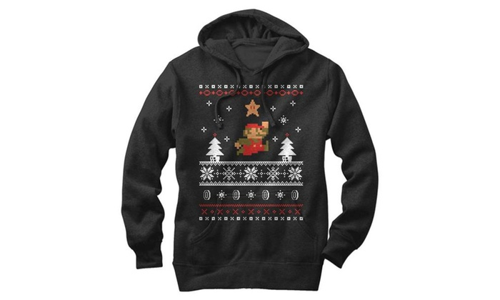 Nintendo Mario Ugly Christmas Sweater Mens Graphic Lightweight