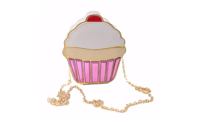 Small cute ice cream or cup cake  cross body bag