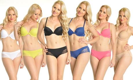 Angelina Laser-Cut Push-Up Bras or Lace Decor Panties (6-Pack) a44cb6a3-758e-4728-a1da-4cb05ce78664