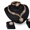 Classic Gold color Clear Austria Crystals Women Jewelry Set