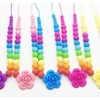 Fashion Jewelry Silicone Rainbow Necklace