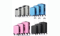3-Piece Traveler's Lightweight ABS Hardside Spinner Luggage Set W/TSA lock