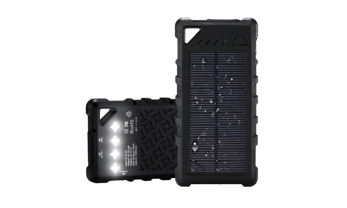 huge selection of 1bfe0 5ecbe FKANT Waterproof Solar Charger, Portable 16000mAh Dual USB Power ...