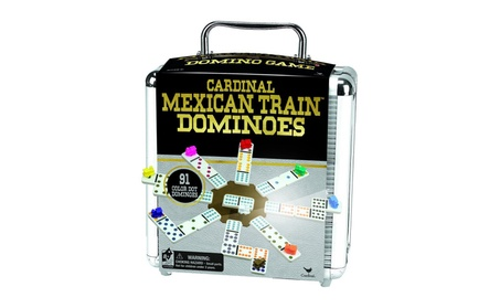 Cardinal Mexican Train Domino Game with Aluminum Case 58d17a79-a96e-414f-8cee-f20d7a567950