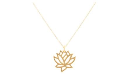 Rose Gold Plating Pure Lotus Pendant Necklace cb0fb6d7-70d3-47e6-8632-0595d949f350