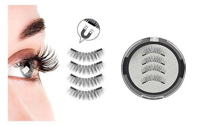 ec1c0cd0eb4 Double Magnetic 3D False Eyelash 1 Set/2 Sets Ultra-Thin Long Lash
