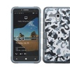 Insten Camouflage Silicone Case For Alcatel One Touch Fierce XL Blue