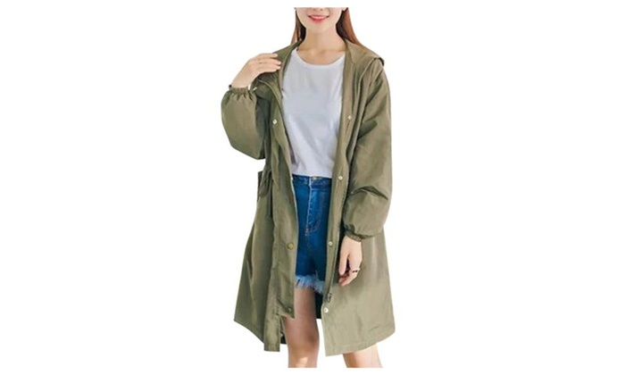 Women's Casual Casual Solid Long Sleeve Trench Coats