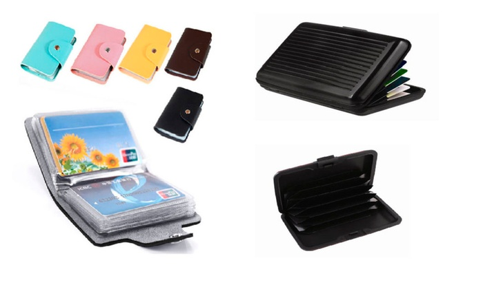 Compact Cards Holder and Case Box Waterproof Credit Card Metal