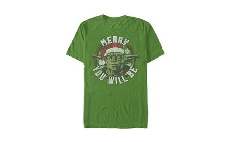 Men's Disney Star Wars Yoda Merry You Will Be Christmas T-Shirt c8dd082c-b3cb-4405-acf5-1f55a7e26086