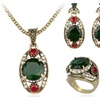 Austrian Crystal Ancient Bronze Plated Jewelry Set for Women
