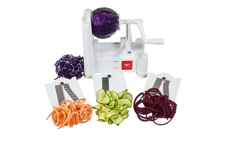 Paderno World Cuisine A4982799 Tri-Blade Vegetable Spiral Slicer photo