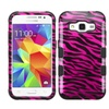 Insten Zebra Hybrid Hard Case For Samsung Galaxy Core Prime Pink/blk