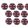 "10 Union Jack British Flag Britain 1.25"" Pinback Buttons Badge"