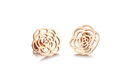 Women's Fashion Earrings Rose Gold Plated Stud Hollow Out Design Gifts eafa31bf-8c78-44dc-b2ea-e4423190fe7a