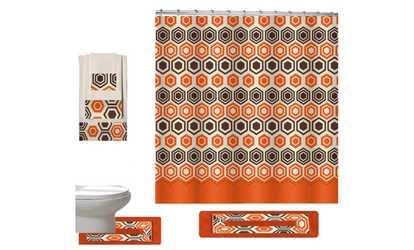 Shop Groupon Galaxy Collection Bathroom Set Of 18 Piece