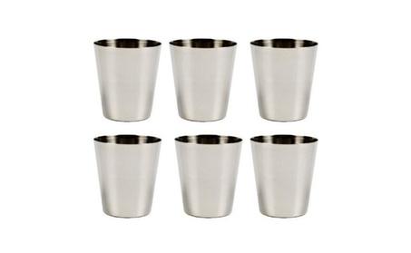 6PCS Stainless Steel Shot Wine Glass Glasses 1-3/4 fl Ounce Set New - L b8a4e200-ff7e-4025-b815-6e49da458cf5
