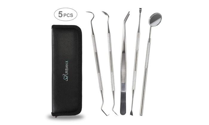 Dental Hygiene Tools Pro Kit 5-in-1, Dentist Instruments Set