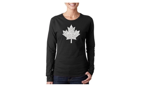 Women's Long Sleeve T-Shirt - CANADIAN NATIONAL ANTHEM e29245a4-2151-438c-80e6-83ba99fd446c