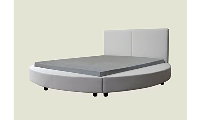 Up To 23 Off On Modern Round Bed Queen Black Groupon Goods
