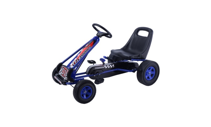Bike Racer Car Outdoor Play Toy 4 Wheels Kids Ride On Pedal Powered