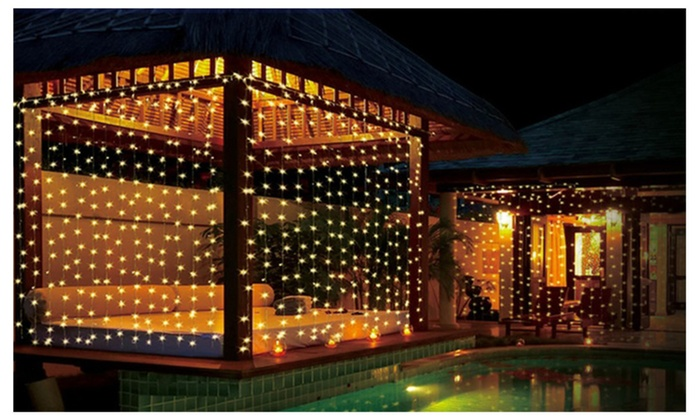String Lights Curtain 300 Led Icicle Wall Lights Starry